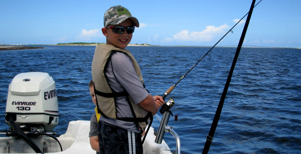 Obx family fishing charter soundside adventures for Outer banks sound fishing