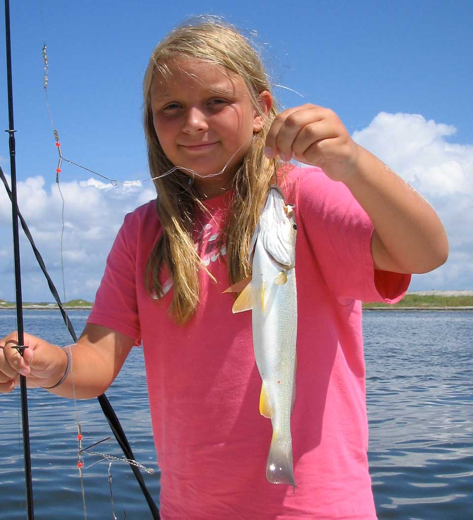 fishing with kids on the Outer Banks
